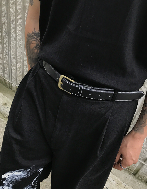 No.8158 leather stitch BELT
